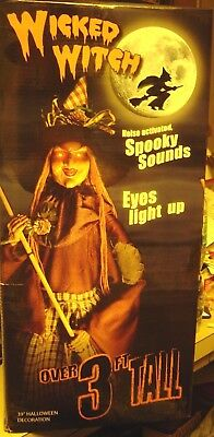 WICKED Witch Halloween Collect 3 feet tall Spooky SOUNDS Eyes LIGHT UP Assembly - Halloween Assembly