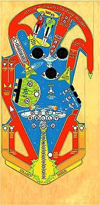 BALLY Star Trek Pinball Machine Playfield Overlay