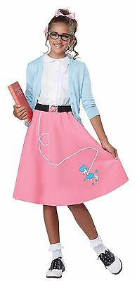 Grease 1950's Poodle Skirt Girls Rock N Roll Child Costume - Pink](Poodle Skirt Kids)