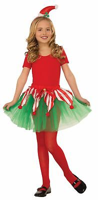 Child Candy Cane Tutu Elf Christmas Holiday Pettiskirt Red Green Girls Costume