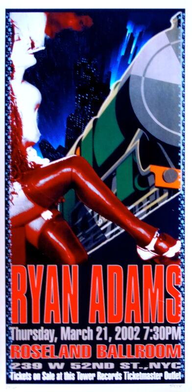 Ryan Adams Concert Poster 2002 NYC