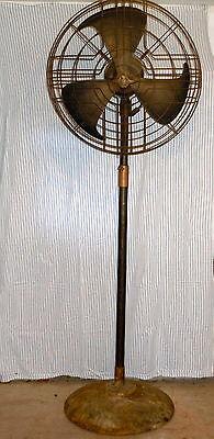 Vintage Industrial GE Vortelex Floor Pedestal Fan