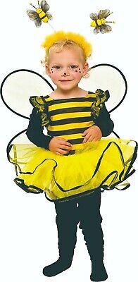 Mottoland 116101 - Bienchen Kleidchen, Kleinkind Kostüm Biene Gr. 80 - 128