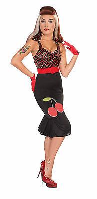 Sexy 50s Retro Rock Rockabilly Cherry Anne Mod Go Go Hippie Costume ](Rockabilly Costume)
