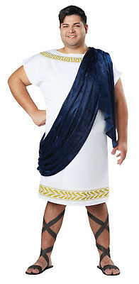 Grecian Toga Roman Greek Adult Men Plus Costume - Greek Costume Men