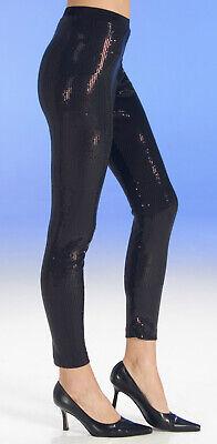 Kostüm schwarze Pailletten Leggins Gr.36-40 Paillettenhose Karneval Fasching
