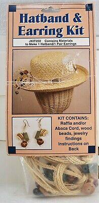 Hat Band & Earrings Kit Wangs International Sewing Craft Kits Womens Jewelry New - Craft International Hat