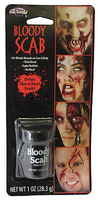 BLOODY FRESH SCAB MAKEUP COSTUME HORROR MONSTERS VAMPIRES FW9433 - Bloody Makeup