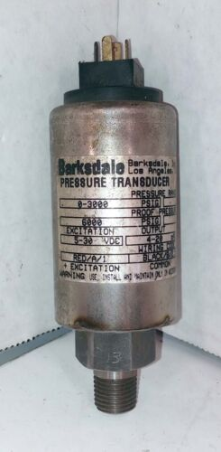 1 USED BARKSDALE 425H4-13 PRESSURE TRANSDUCER 0-3000 PSI ***MAKE OFFER***