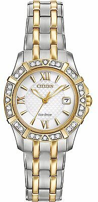 (Citizen Eco-Drive Women's EW2364-50A Two-Tone Diamond Bezel Bracelet 26mm Watch)