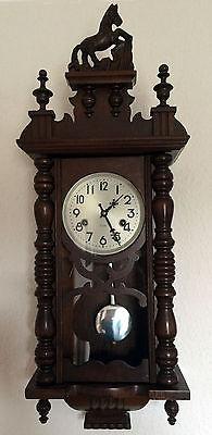 Antike Wanduhr Pendeluhr Mechanisch aus Holz 31 DAY