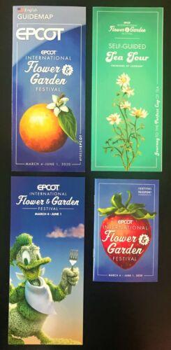 New 2020 Walt Disney World Flower & Garden Festival Guide Map And Passport Rare!