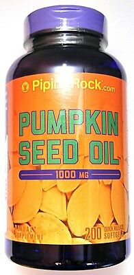 200 Softgels Pumpkin Seed Oil 1000mg Cold Pressed Omega 3 6 Fatty Acids Capsule