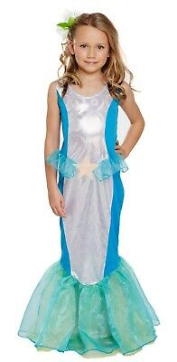 Girls Ariel Mermaid Fancy Dress Up Costume Outfit Ages 4-9 yrs NEW ()
