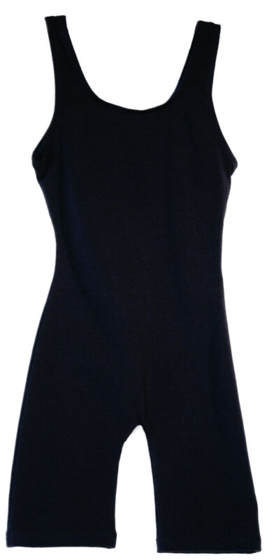 Bodysuit / Biketard Unitard Cotton Blend in Black Adult sizes S, M, L, XL NEW