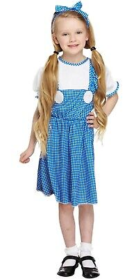 Dorothy Dress Up Outfit (Girls Dorothy Fancy Dress Up Costume Wizard Of Oz Outfit Child Ages 4-9 yrs)