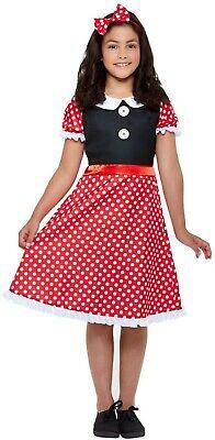 Girls Cute Mini Mouse Fancy Dress Costume Kids Birthday Party Book Week Fun Play - Girls Mini Mouse Costume