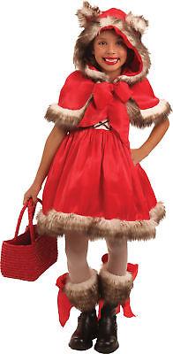 Kleine Rote Wolf Kinder Mädchen Kostüm Rotkäppchen Kleid Thema Party Halloween