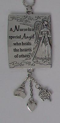 s A nurse is special angel who heals hearts Car Charm Mirror Ornament Ganz](Nurse Ornaments)