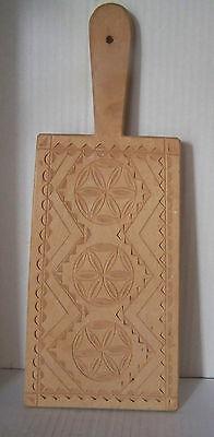 Alte Butterform flach Klatte Holz