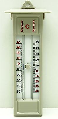 Min-Max Thermometer, beige - weiß, Analog, Stallthermometer, Neu & OVP 06