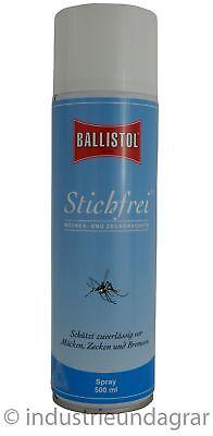 Ballistol Stichfrei Spray 500ml Mückenschutz Bremsen- & Zeckenschutz Mückenspray