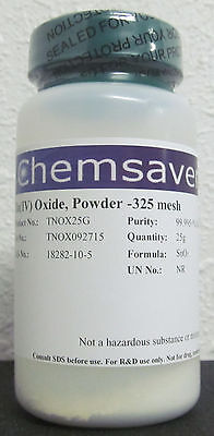 Tiniv Oxide Powder -325 Mesh 99.995 Metals Basis Certified 25g