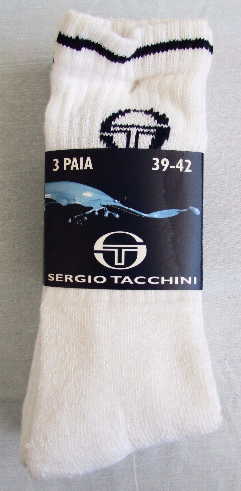 Calzini Sergio TACCHINI da tennis in spugna cotone donna / uomo 3 per pack