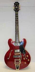 Epiphone Custom Dot Ch Semi Hollow Electric Guitar Cherry #248715 Browns Plains Logan Area Preview