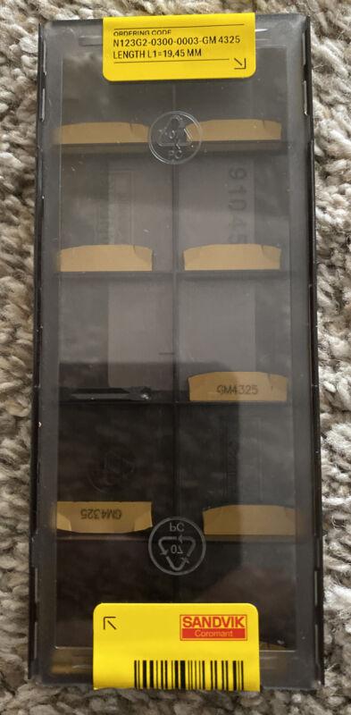 SANDVIK N123G2-0300-0003-GM 4325 10 PCS Authentic inserts
