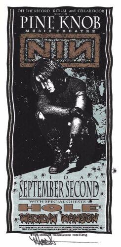 NIN~NINE INCH NAILS~ Mark Arminski SIGNED Silkscreen Art  Concert Handbill MINT