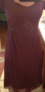 Embroidered Evening dress (size 16)