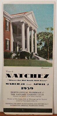 1939 Natchez Mississippi vintage Garden Club Pilgrimage brochure b