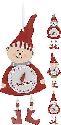 Countdown to Christmas Wall Hanging Advent Calendar Wooden Clock Advent Calendar