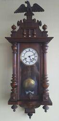 Antique 19th Century Junghans German Pendulum Regulator Striking Wall Clock
