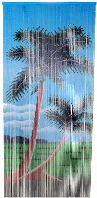Palm Bamboo Curtain Double Palm Tree - Palm Tree Bamboo Curtain