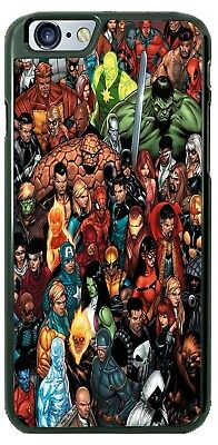 Marvel Comic Superhero Characters Collage Phone Case fits iPhone Samsung LG - Superhero Characters