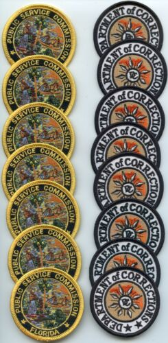 FLORIDA STATE PUBLIC SERV & DOC Trade Stock 15 Police Patches SMALL POLICE PATCH