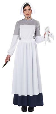 War Nurse Costume (California Costumes Civil War Nurse Adult Costume, White/Gray,)