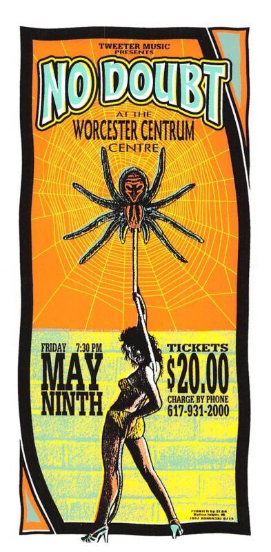 No Doubt Original Poster Handbill Worcester Centrum 1997 Mark Arminski NM