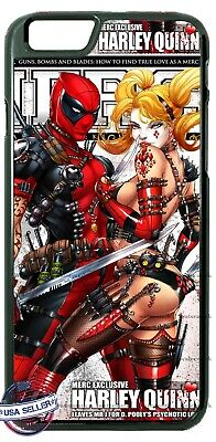 Deadpool Harley Superhero Animated Phone Case For iPhone Samsung A20 LG Google