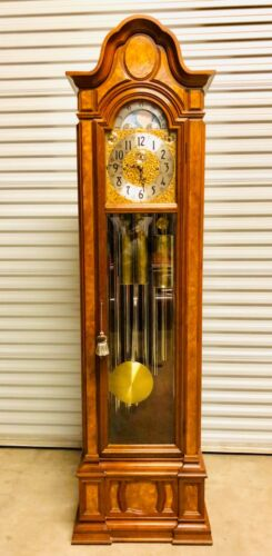 HERSCHEDE SHEFFIELD #230 9-TUBE GRANDFATHER CLOCK ABSOLUTELY BEAUTIFUL!