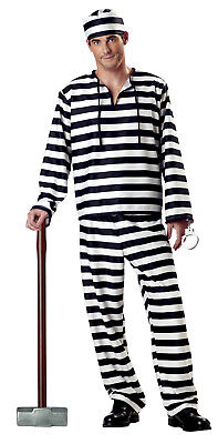 Jailbird Prisoner Convict Adult Halloween Costume