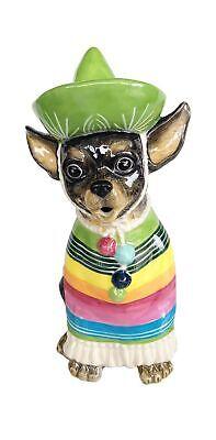 Blue Sky Ceramic Chihuahua Teapot, Multicolor