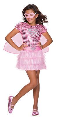 Supergirl Dc Comics Kinder Mädchen Kostüm Rosa Sparkle - Supergirl Tutu Kinder Kostüme