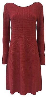 LA FEE MARABOUTEE Kleid Frau rot Dunkelheit Jersey mod FA1498 MADE IN ITALY ()