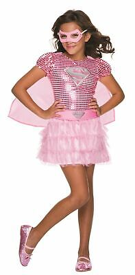 GIRLS PINK SEQUIN SUPERGIRL COSTUME SIZE XS 2-4 (Supergirl Pink)