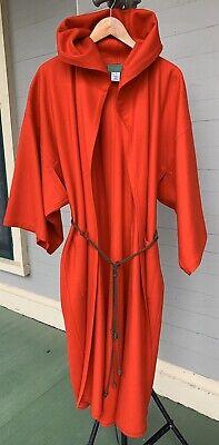 Stunning Vintage Kenzo Paris Wool Cashmere Kimono Coat, Red, Size 36.