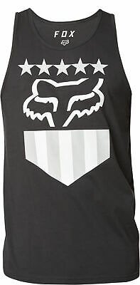 Fox Racing Freedom Shield Mens Premium Tank Top Black Vintage LG