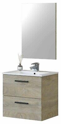 Mueble de baño y espejo color roble Alaska Aruba industrial 60X45 cm...
